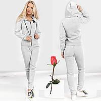Женский зимний спортивный костюм на флисе  Gr 23757  Светло-Серый, фото 1