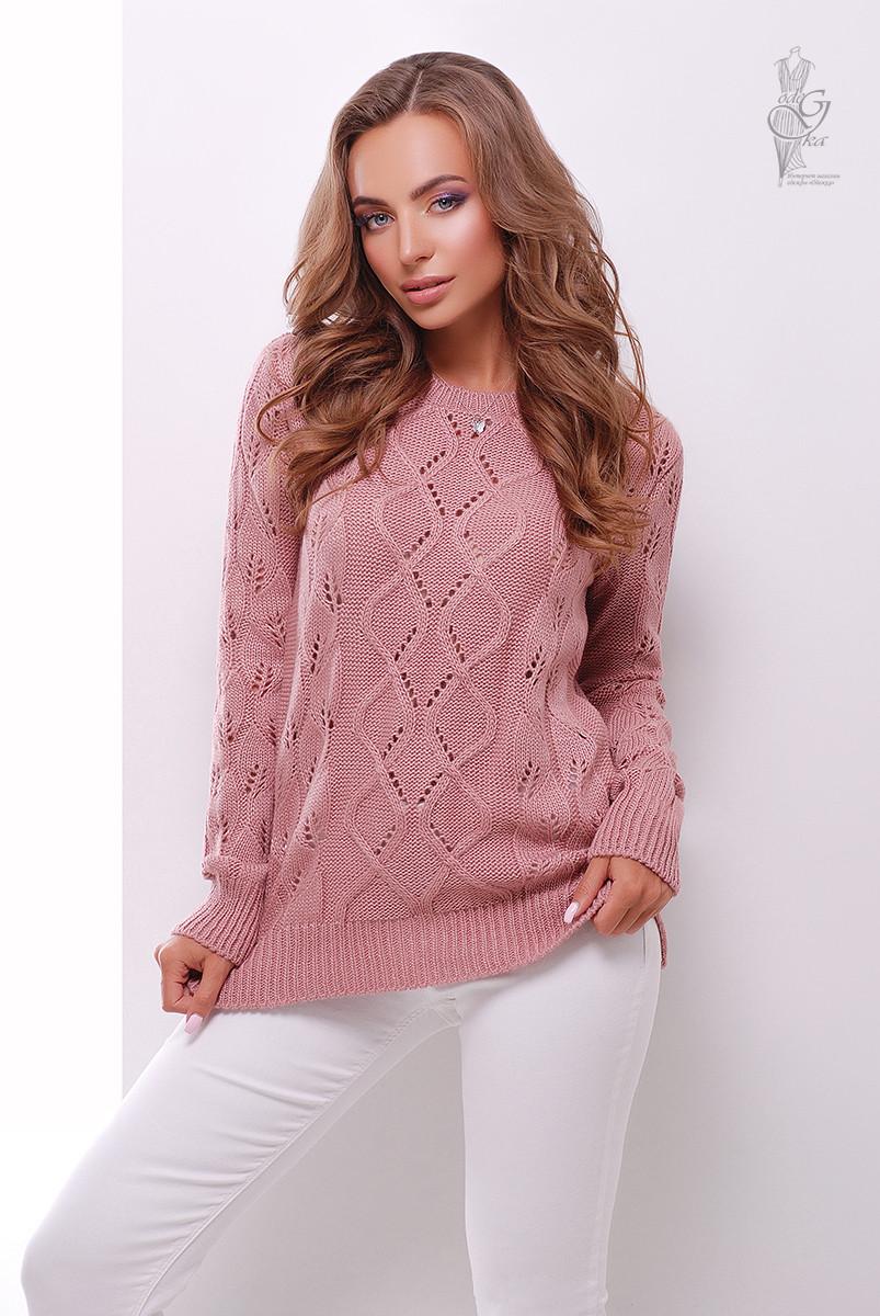 Вязаный женский свитер Лиза-7 из шерсти и акрила