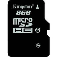 Карта памяти Kingston microSD 8GB class 10