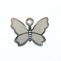 Металл. пластина Бабочка мини  0,9*1,1 см (19 шт)