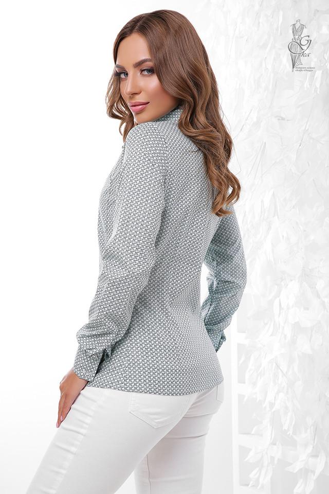 Фото-1 Женской приталенной блузки Ромбус-8