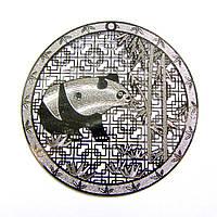 Металл. пластина Панда  диам. 5,4  см (2 шт)