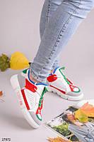 Оригинальные кроссовки серые+белые+синие+зеленый+красный эко-замш+кожа