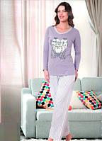 Теплая женская пижама на байке Турция 956