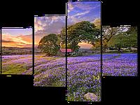 Модульная картина Поле с цветами