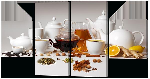Модульная картина Набор для чая и кофе