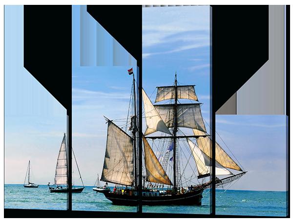 Модульная картина Парусник в океане
