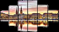 Модульная картина Вид на Гамбург