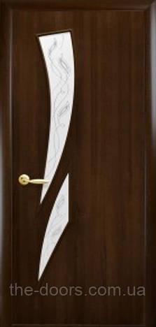 Дверь Камея Р3 стекло сатин пвх DeLuxe