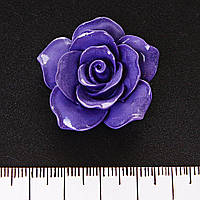 Роза для бижутерии полимерная глина, без отверстия