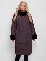 Зимнее пальто с широким воротником стойка, с 52-60 размер , фото 1