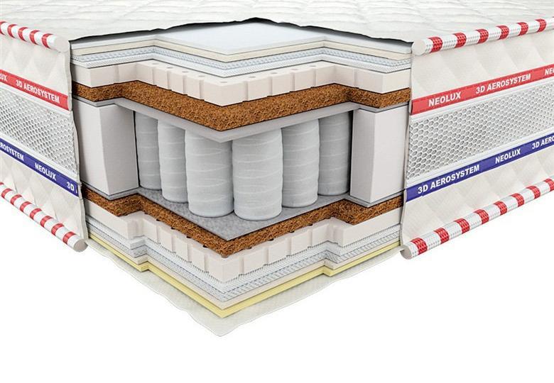 Ортопедический матрас 3D Империал Латекс-Кокос Зима-лето PS 180х200