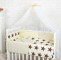 Комплект в кроватку Comfort. Шоколадные звезды