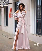 1e03ac4b65e Платье в пол с разрезом и декольте открытые спина и плечи