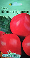 "Семена томата Бычье сердце розовое, раннеспелый 0,1 г, ""Елiтсортнасiння"", Украина"