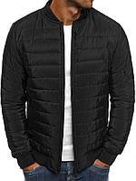 08c735280f7 Демисезонная мужская куртка бомбер черная стеганая