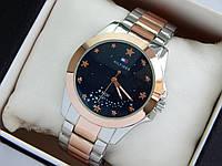 Наручные кварцевые часы Tommy Hilfiger серебро-розовое золото, со звездным небом на циферблате , фото 1