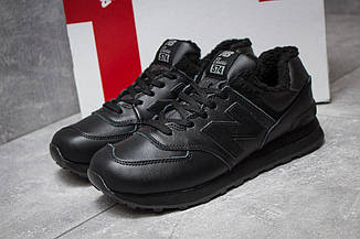 Зимние кроссовки New Balance 574, черные (30015),  [  44 45 46  ]