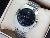 Наручные кварцевые часы Tommy Hilfiger серебряного цвета со звездным небом на циферблате, фото 1