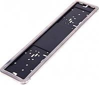 Рамка номера нержавеющая VITOL PH-60050., фото 1