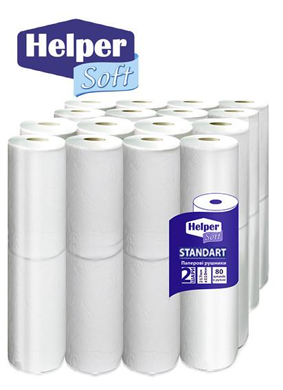 Helper Soft стандарт полотенца бумажные (2*16) 32 шт