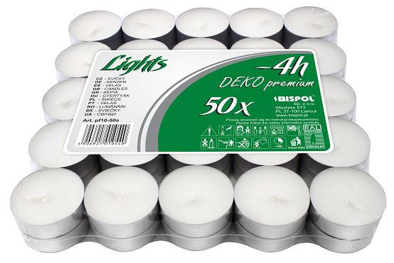 Свечи чайные Bispol Deko Premium 1,4 см 50 шт (pf10-50s)