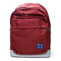 Рюкзак мужской городской BST 430026 30х10х45 см. красный