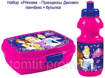 """Набор """"Princess (Принцессы Диснея)"""". Бутылка и Ланч бокс (ланчбокс), фото 2"""