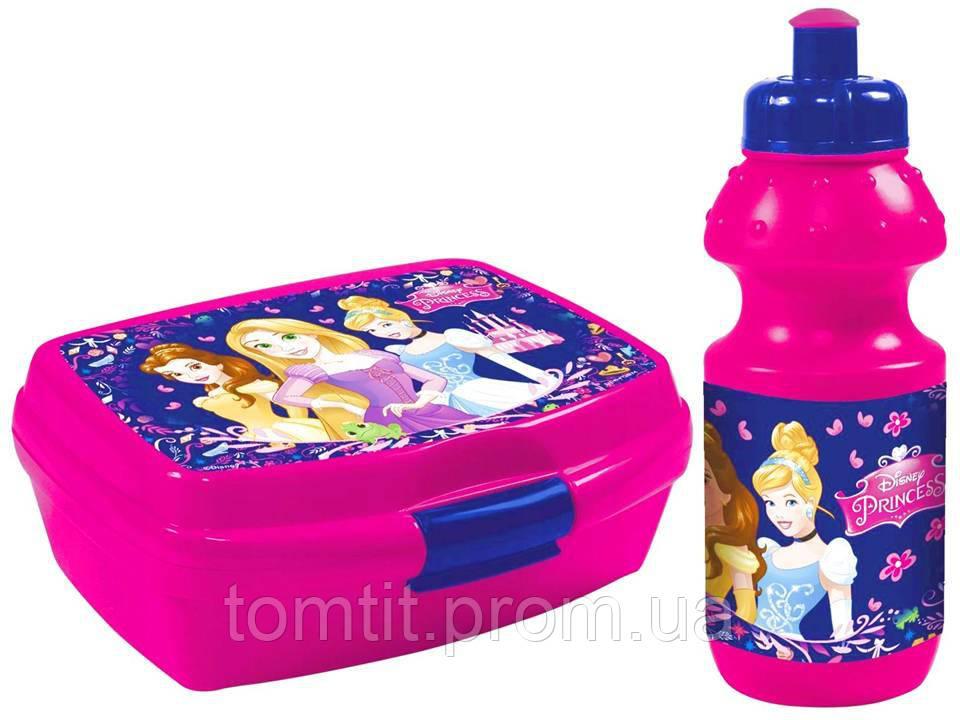 """Набор """"Princess (Принцессы Диснея)"""". Бутылка и Ланч бокс (ланчбокс)"""