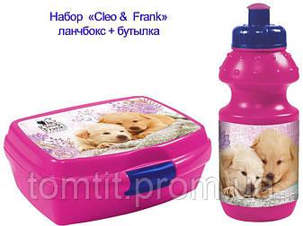 """Набор """"Cleo &  Frank (Клео и Франк)"""". Бутылка и Ланч бокс (ланчбокс), фото 2"""