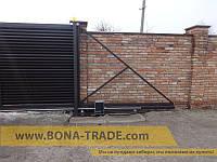 Откатные ворота с зашивкой жалюзи BonaFence 2000, 3000