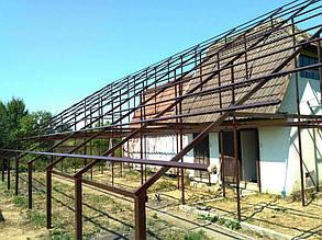 Смонтированная ферма до установки солнечных модулей.