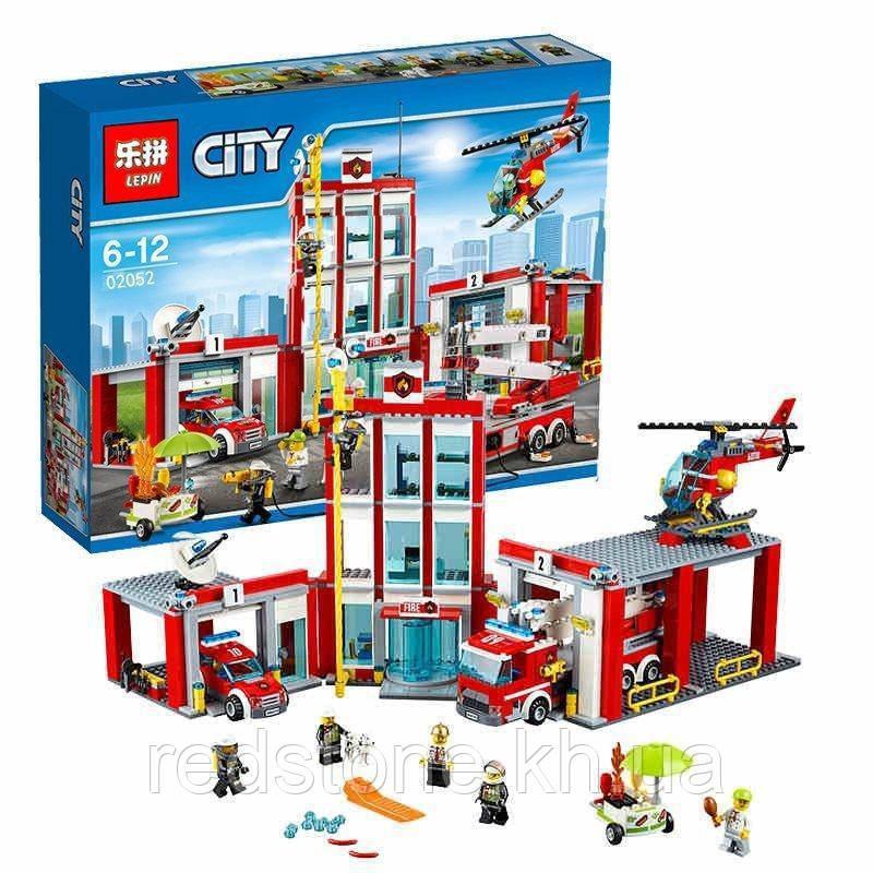 """Конструктор Lepin 02052 (Lego City 60110) """"Пожарная часть"""", 1029 дет"""