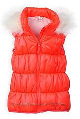 Теплая оранжевая жилетка с капюшоном (Размер 6Т)  Рumpkin patch (США)