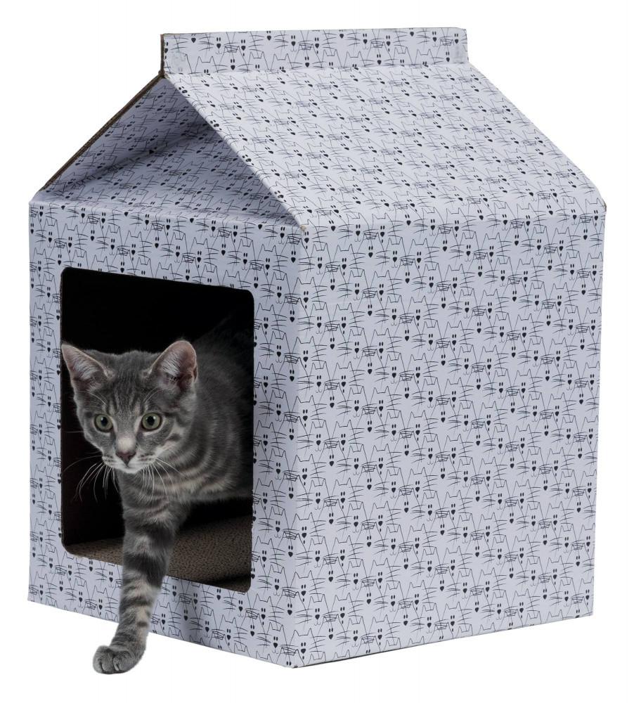 Trixie TX-48010 картонний будиночок - когтеточка для кішок і кошенят