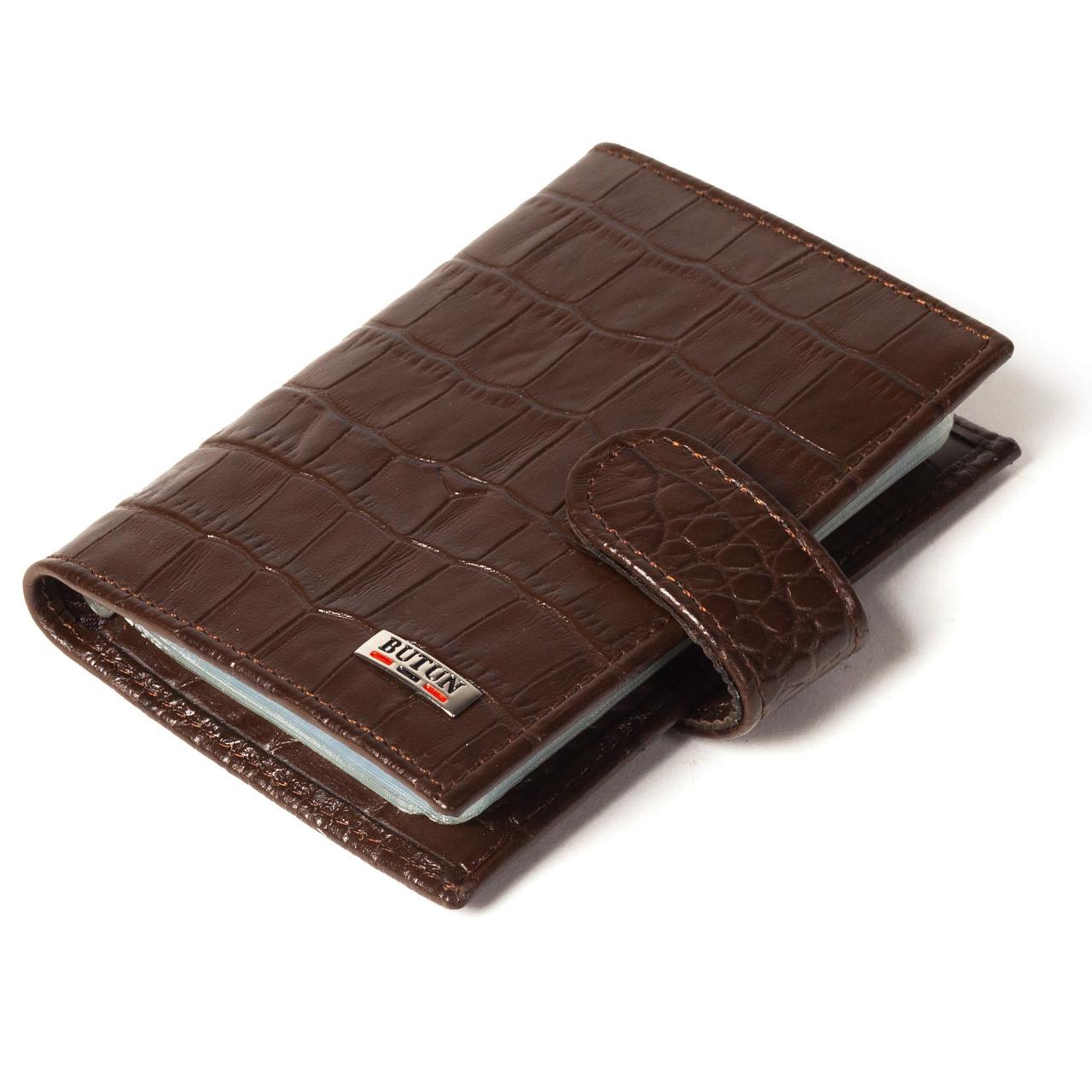 Визитница кредитница кожаная коричневая Butun 152-002-004