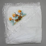 Крыжма полотенце с капюшоном травка 100х90 см