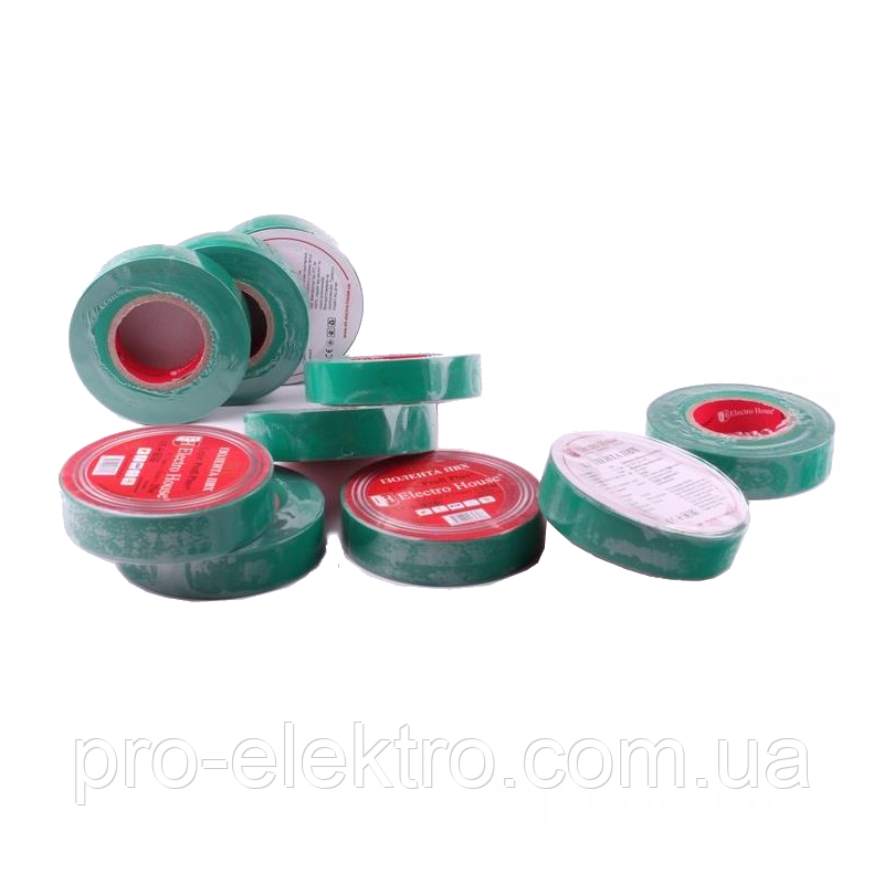 EH-AHT-1823 Зеленая изолента 21м. 0,15мм х 18мм