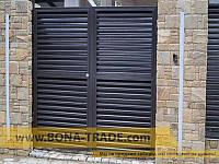 Распашные ворота с зашивкой жалюзи BonaFence