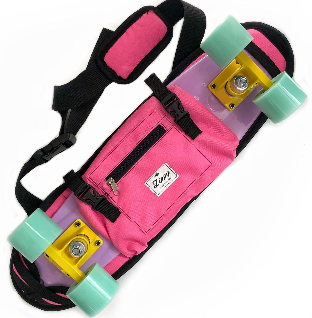 """Zippy Bag 22"""" Pink- Розовая Сумка чехол для пенни борда"""
