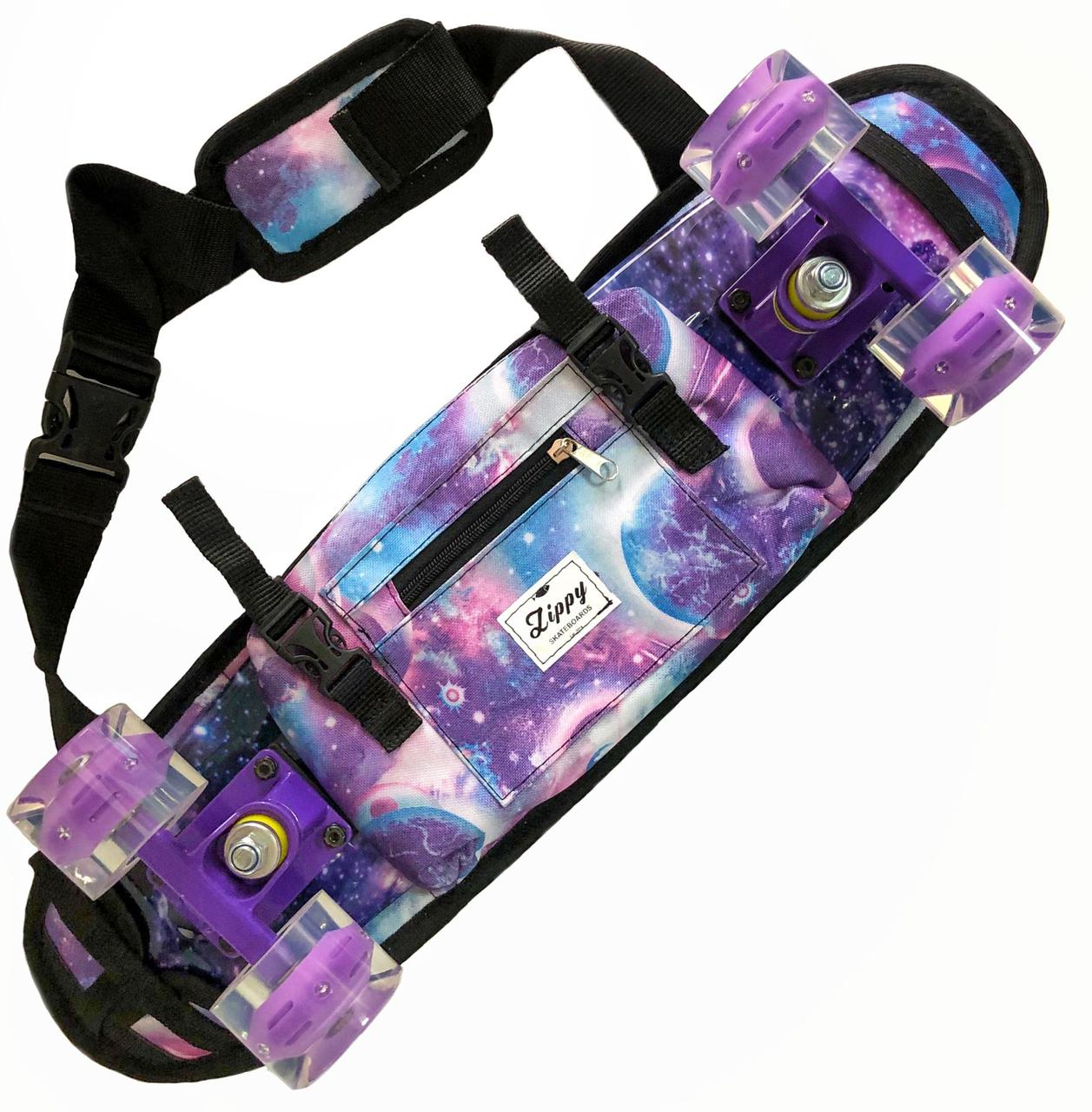 """Сумка чехол для пенни борда Zippy Bag 22"""" Cosmos - Космос"""
