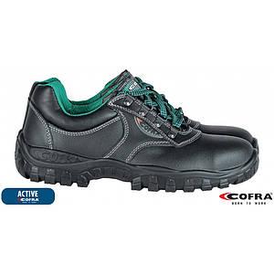 Защитная обувь BRC-ANTARES BZ с металлическим носком, черно-зеленого цвета. COFRA