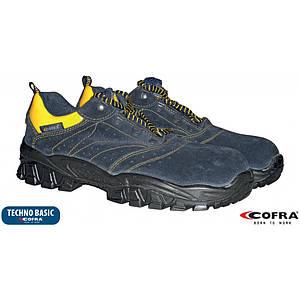 Защитная обувь BRC-ARNO-S1P с металлическим носком,желто-синего цвета. COFRA