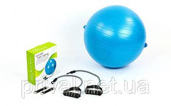 Мяч для фитнеса (фитбол) с эспандерами 65см PS FI-075T-65