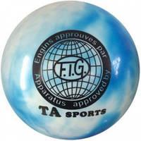 Мяч для художественной гимнастики, д-19см. TA Sport. (радуга)