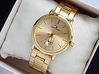 Наручные часы Tommy Hilfiger золотого цвета с дополнительным циферблатом, фото 1