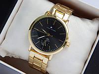 Наручные часы Tommy Hilfiger золотые с черным, дополнительный циферблат, фото 1
