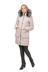 Зимняя женская куртка SV - 7418м цвет лед