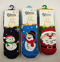 Теплые детские носки с тормозками Bross (размеры 22-24)