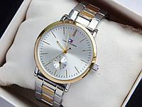 Наручные часы Tommy Hilfiger серебро-золото, дополнительный циферблат, фото 1